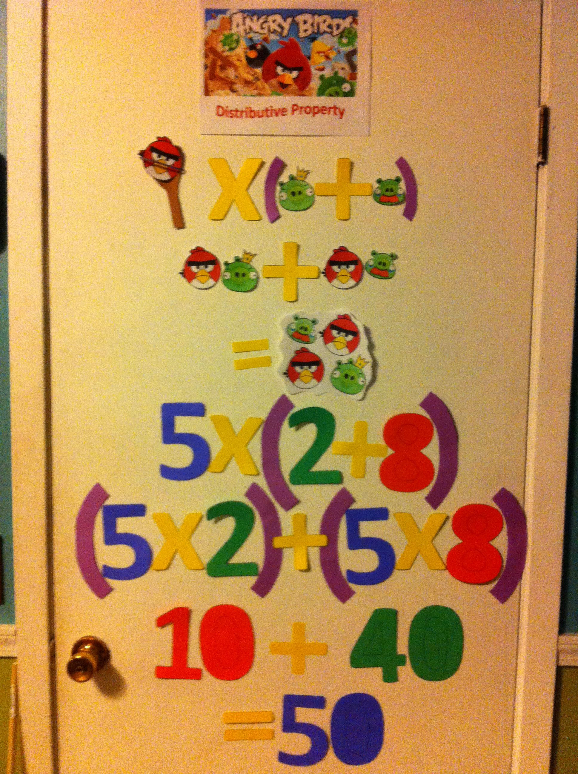 Distributive Property Lesson Angry Birds