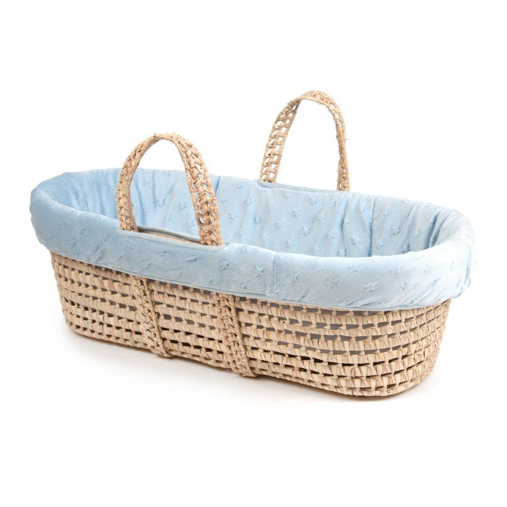 Tadpoles Moses Basket and Bedding Set Blue Star