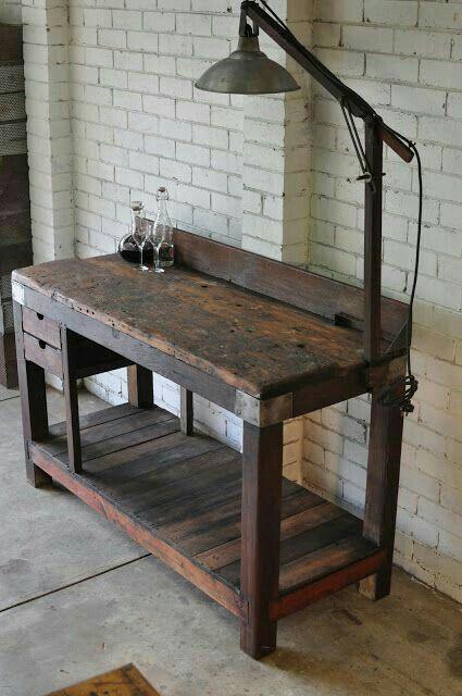 Nice old workbench | Recuperation | Pinterest | Mesas, Mesas de ...