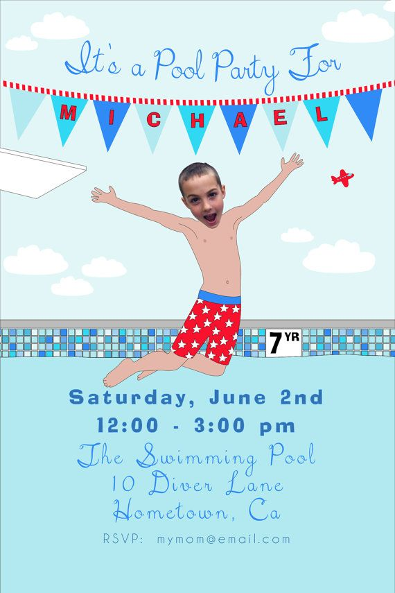 Boys Pool Party Invitation By LittleAndTheGirl On Etsy 2500