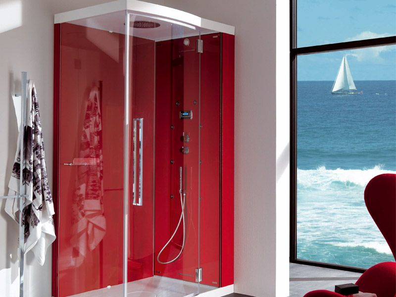 red shower | red shower cabin for modern bathroom design – alya