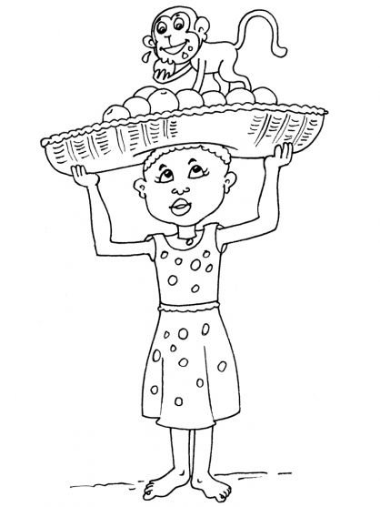 africa coloring pages preschool - photo#12