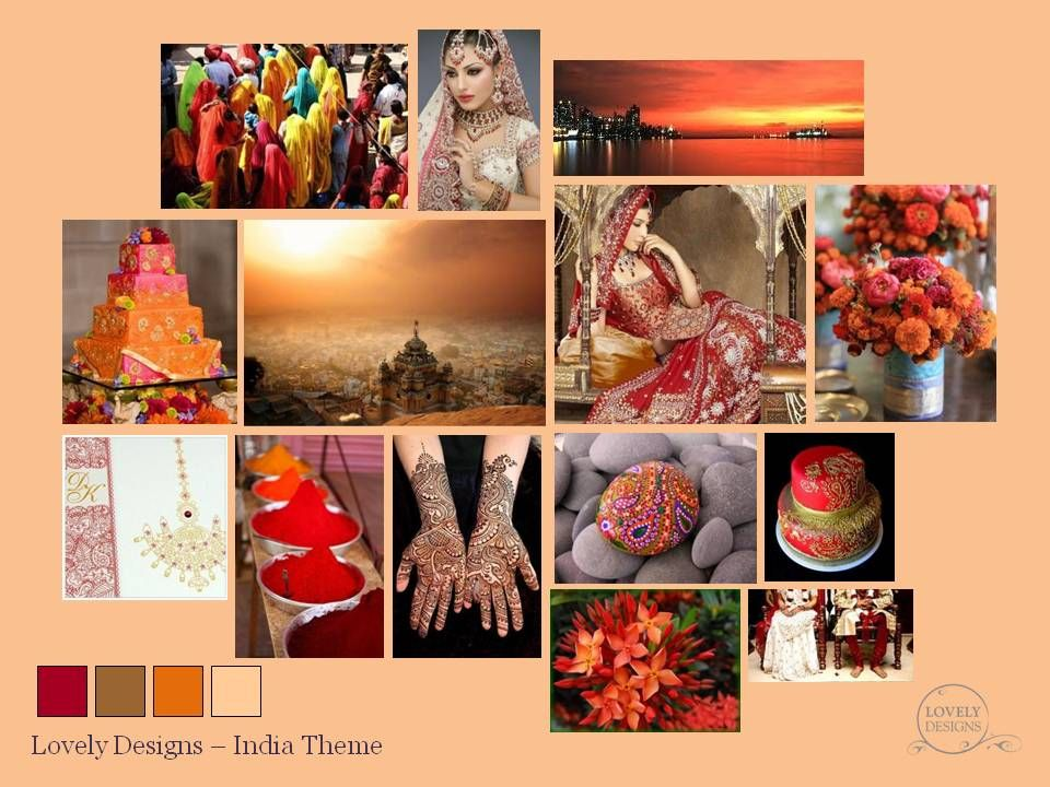 A Lovely Designs Indian Wedding Mood Board In Red Gold