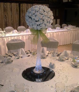 Rose Ball Centrepiece Hire Balloons Chair Cover Hire Wedding Parties Surrey Wedding Floral Centerpieces Centre Pieces