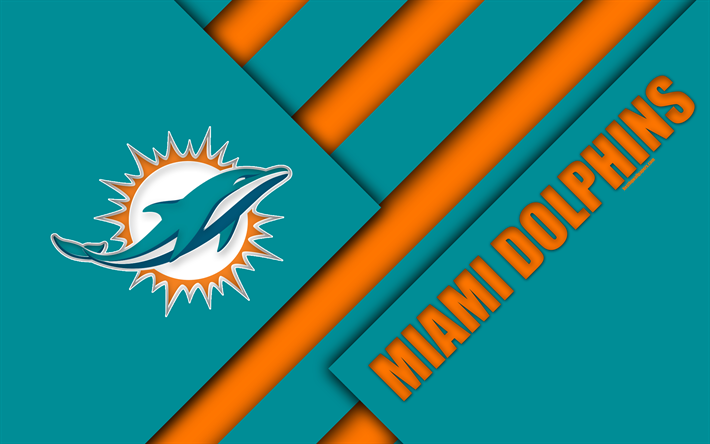 Download wallpapers Miami Dolphins, AFC East, 4k, logo