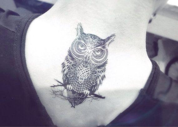 Waar Henna Tattoo Kopen: 1pcs Owl Tattoo InknArt Temporary Tattoo Wrist Quote Door