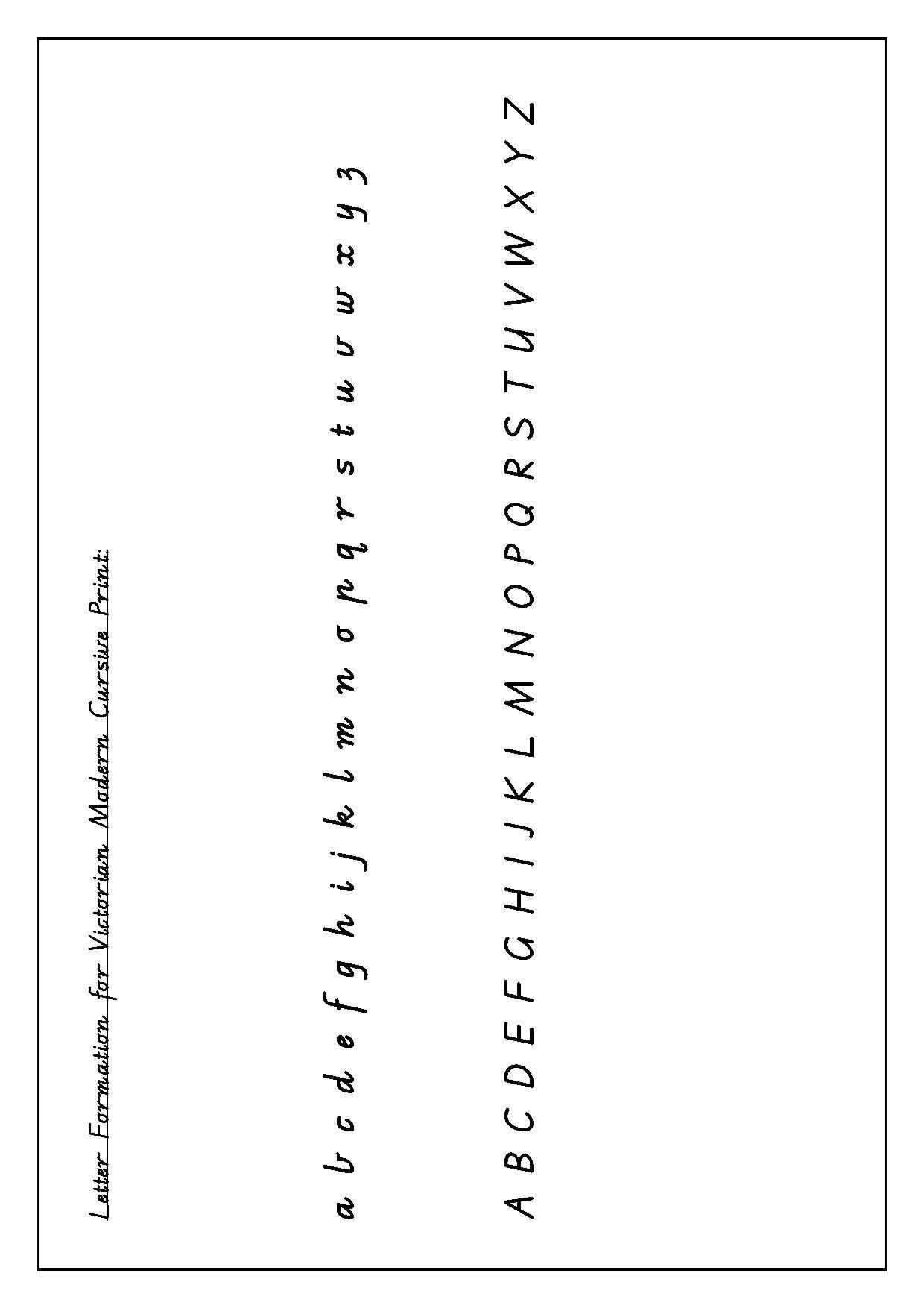 Victorian Modern Cursive Alphabet Tattoo