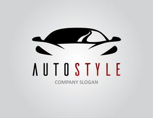 Auto Style Car Logo Design With Concept Sports Vehicle Icon