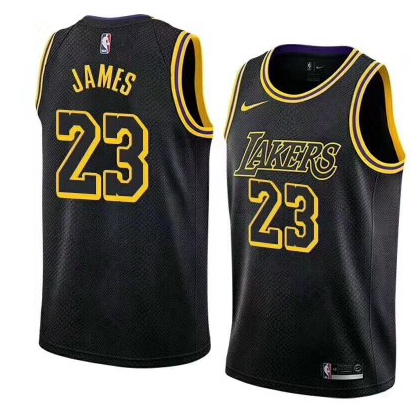 3fee4fe1b Adult Lakers Basketball Jersey Black James 23