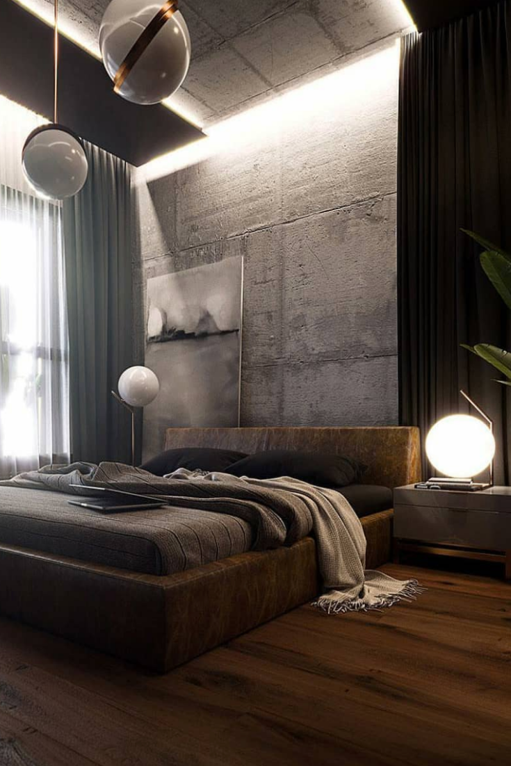It S Hard To Design Industrial Bedroom That Would Be Stylish Yet Functional And Industrial Apartment Decor Loft Apartment Decorating Industrial Bedroom Design