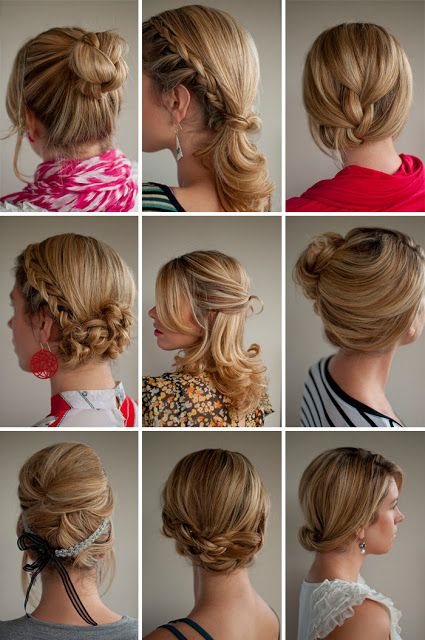 """Some new """"twists & pins"""" hairstyles..."""