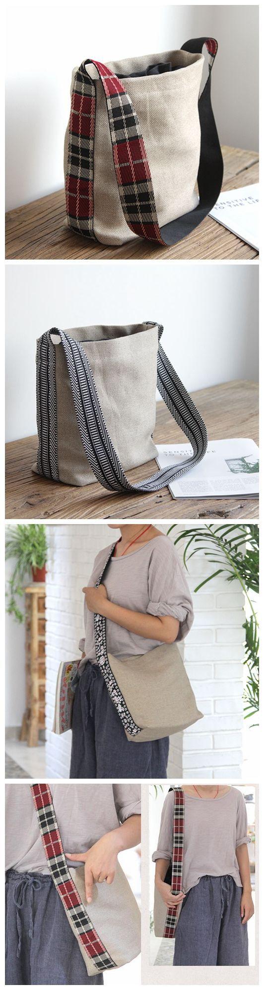 Bolso de lona, bolso hecho a mano, regalo de dama de honor, bolso de lona diario informal, bolso vintage, popular
