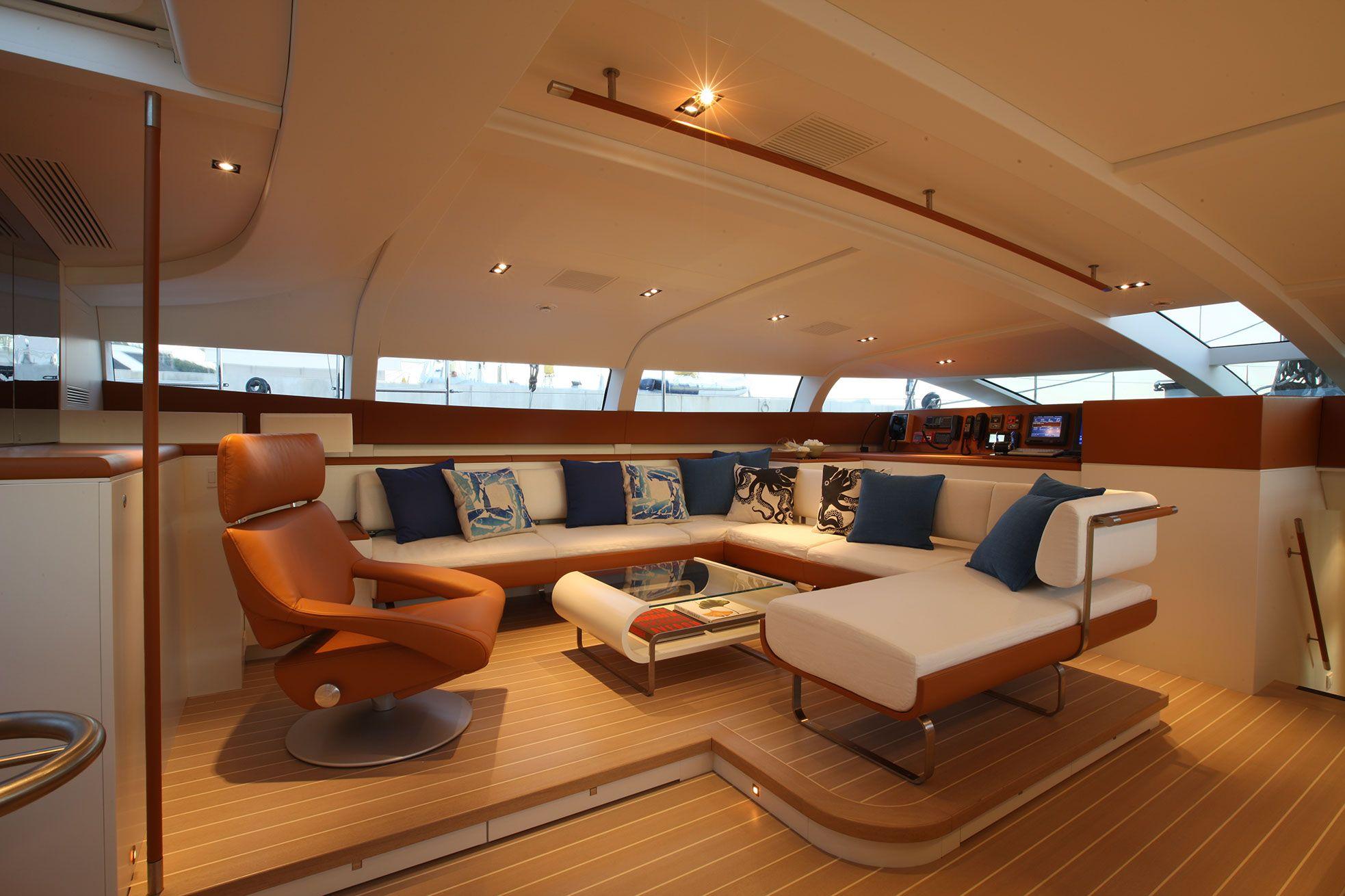 P2 Yacht Charter Details Perini Navi Luxury Yacht Interior