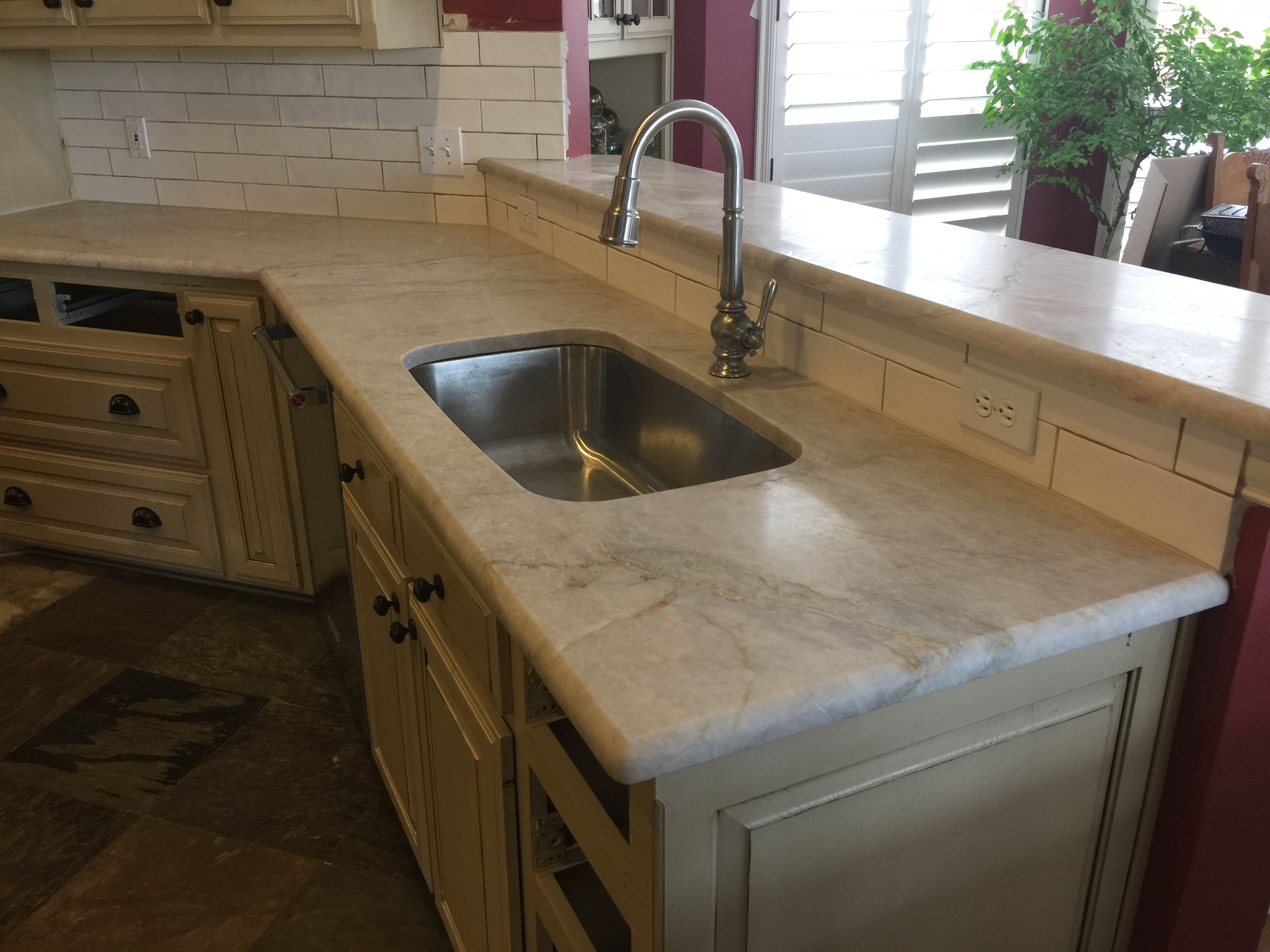 Good bye 1997 Baltic Brown Taj Mahal leathered quartzite countertops ...