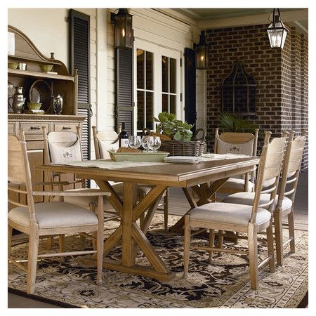 Darienne Dining Table in Distressed Oatmeal Dream Home Pinterest