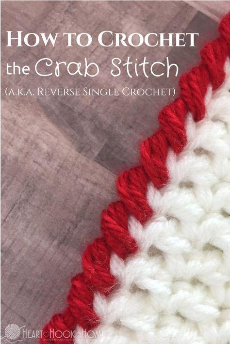 The Crab Stitch Crochet Stitch + Video Tutorial | Stricken und ...