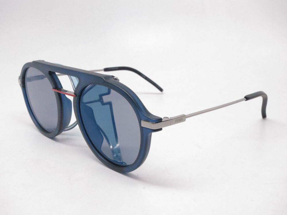 65e69c9bab8 Details about New Authentic Fendi FF 0040 S WQ6SS Palladium with Silver  Mirror Sunglasses