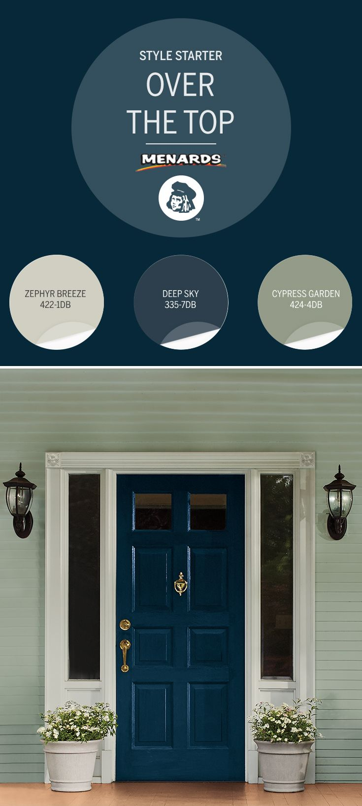 Give your entryway architectural flair when you add - Dutch boy maxbond exterior paint ...
