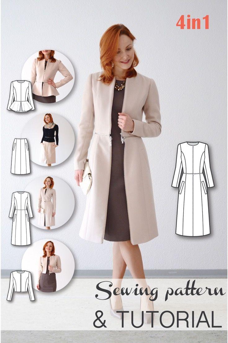 Sewing patterns coat patterns jacket patterns bolero pattern