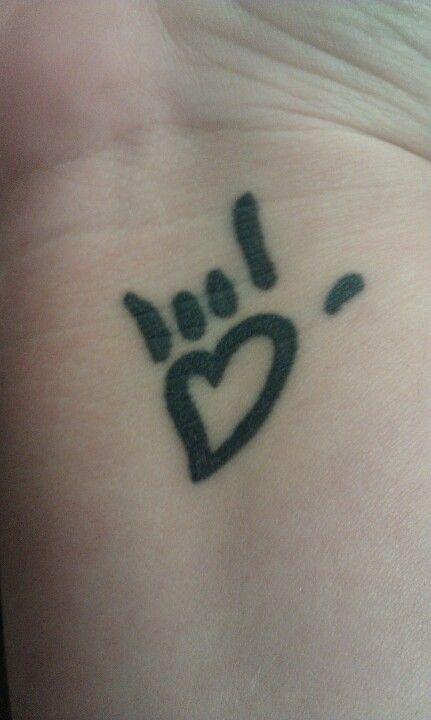 "Asl Love Tattoo: My Wrist Tattoo, ""I Love You"" In American Sign Language"