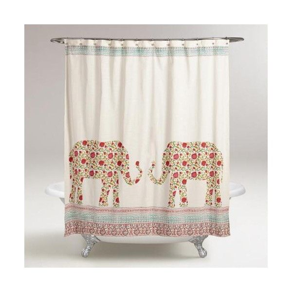 Cost Plus World Market Indian Elephants Indra Shower Curtain 30