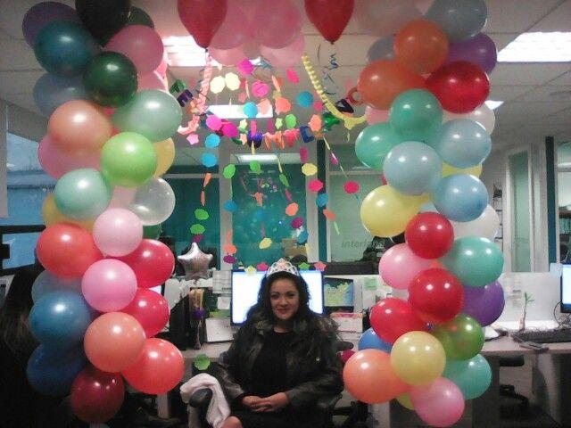 Cumplea os godin ballooning pinterest for Decoracion de oficinas sencillas