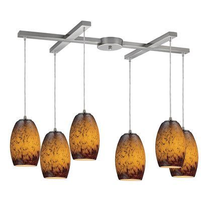Elk Lighting Maui 6 Light Kitchen Island Pendant