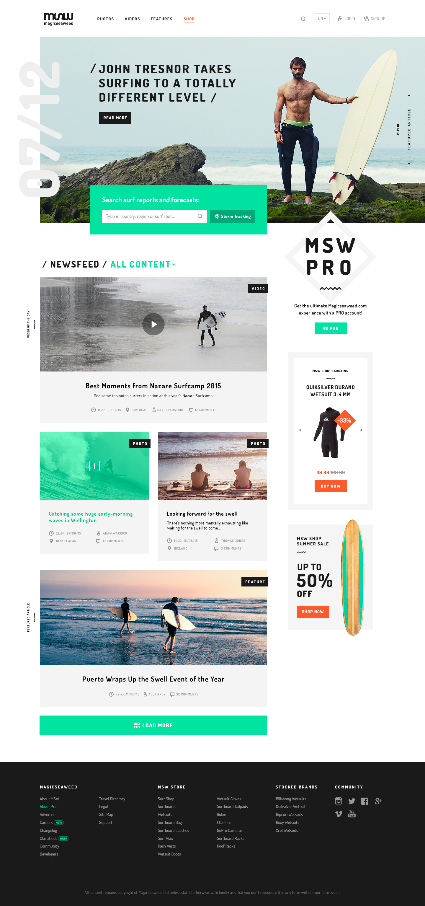 Magicseaweed D 01 Index Png By Mykolas Puodziunas Web Design Inspiration Online Web Design Web Layout Design