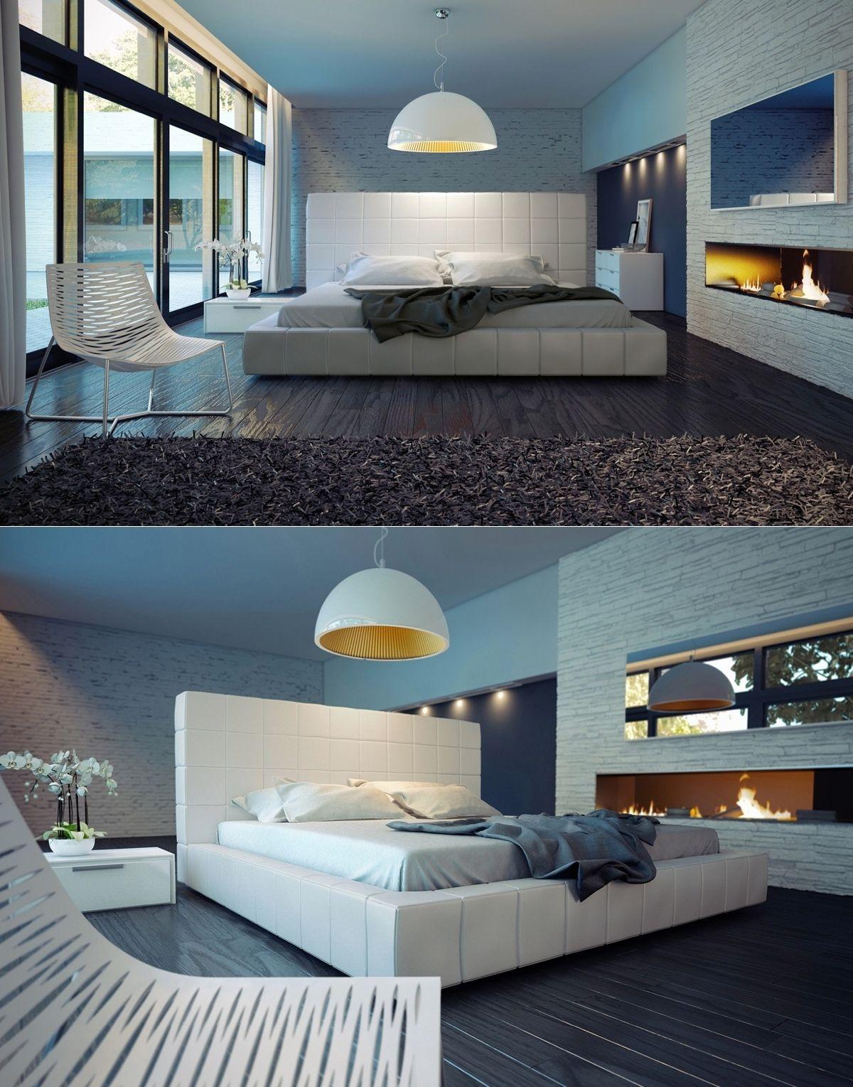 Luxus-Schlafzimmer-Design mit außergewöhnlichen und zeitgenössischen ...
