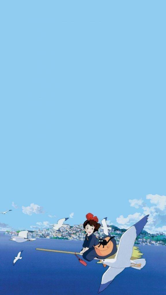 魔女の宅急便 01 無料高画質iphone壁紙 Iphone 壁紙 アニメ ジブリ イラスト 漫画の壁紙