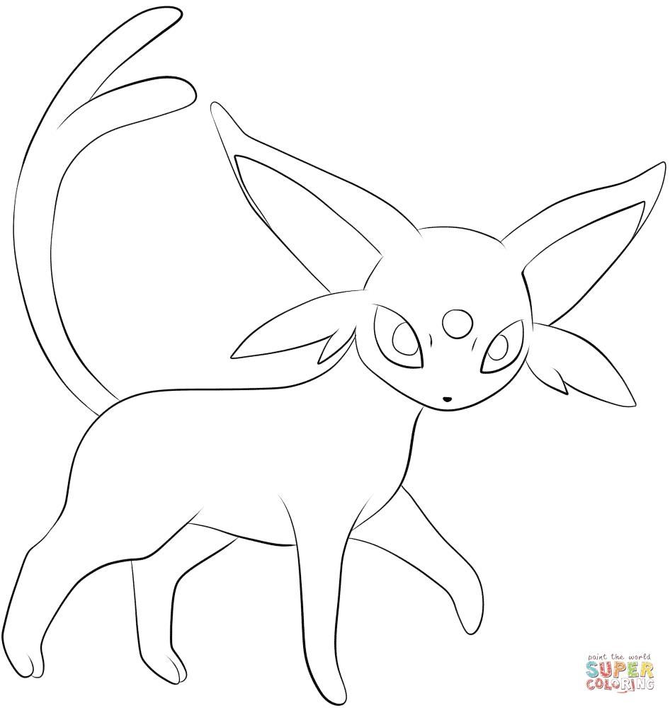 Pokemon Coloring Pages Espeon To Print Pokemon Coloring Pokemon