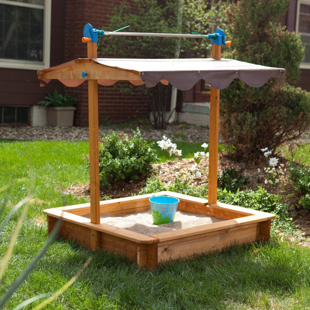 Covered wooden sandbox wooden sandbox easy diy crafts