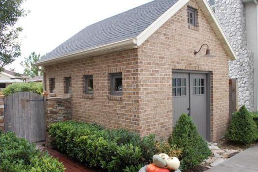 How To Build A Concrete Block Garden Shed Lighthouse Garage Doors Brick Shed Backyard Sheds Shed Design