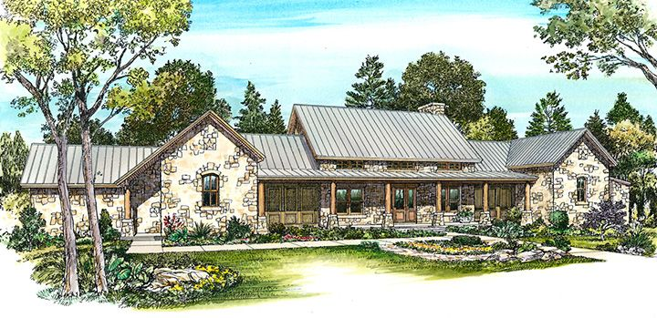 Havenwood Hill Country Plans Ranch Style House Plans Hill Country Homes Contemporary House Plans