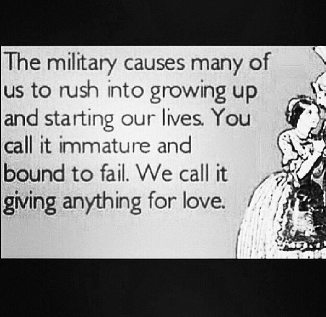 Military Love Quotes For Him: Young Military Love, Is More True Than Your 4 Year