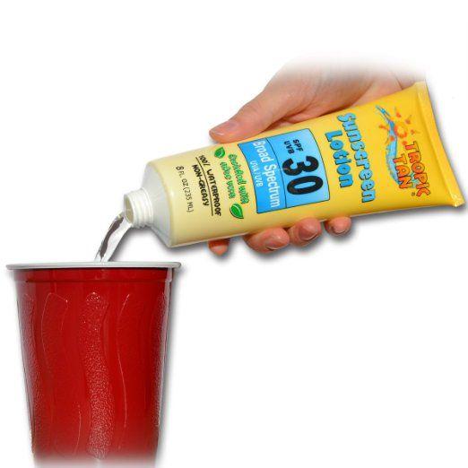 Amazon.com: GoPong Hidden Sunscreen Alcohol Flask, 2-Pack: Kitchen & Dining