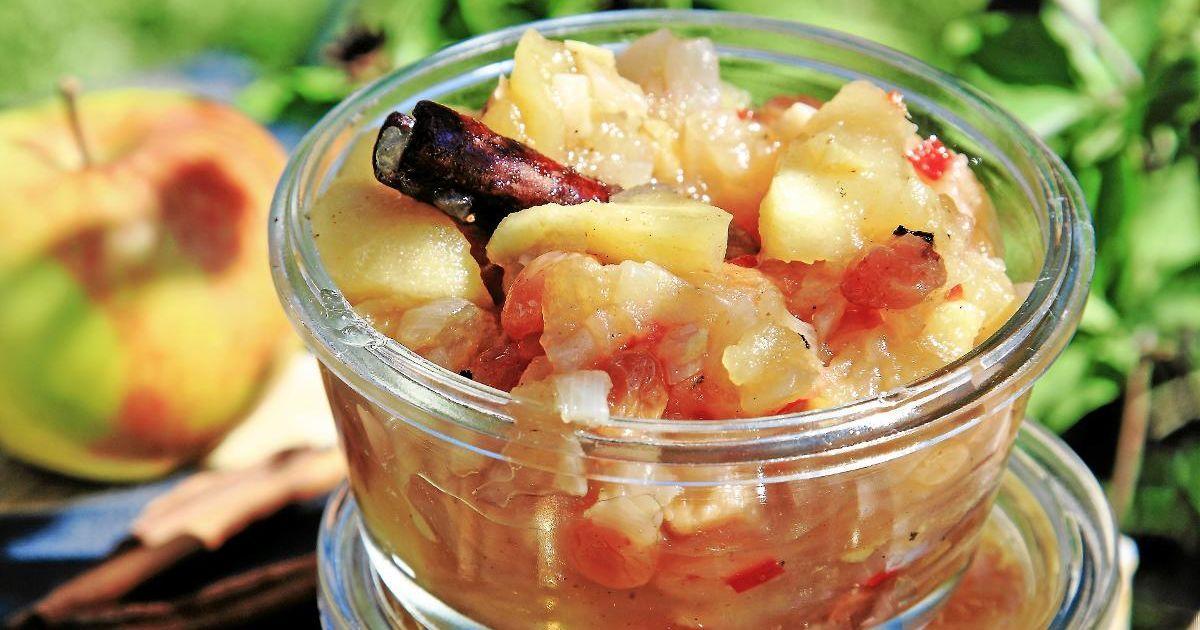 äppelchutney med ingefära