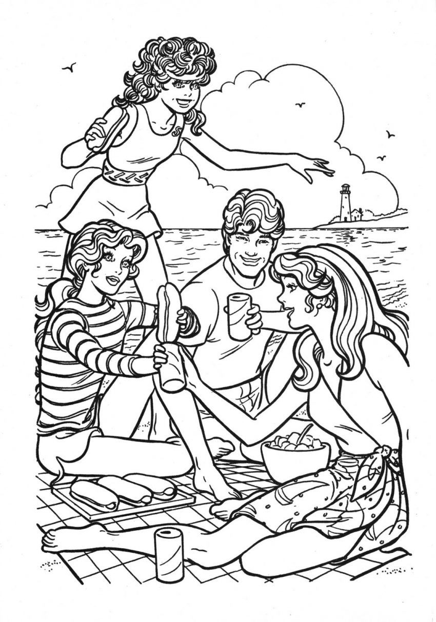 Holiday barbie coloring pages