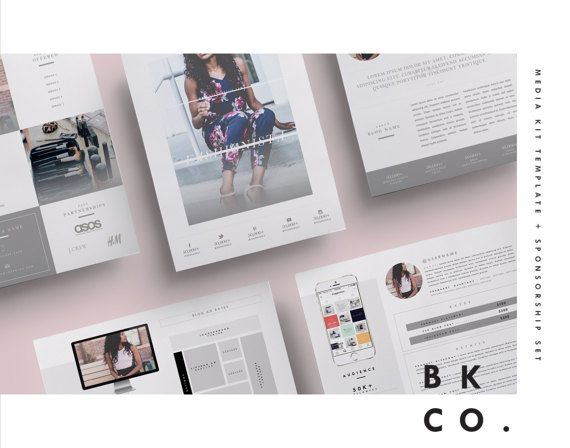Fashion Blog Media Kit Template 6 Pages Press Kit + Cover - rate sheet template