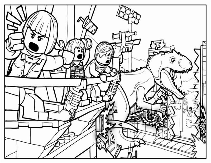 Jurassic World Coloring Pages Lego Coloring Pages Dinosaur