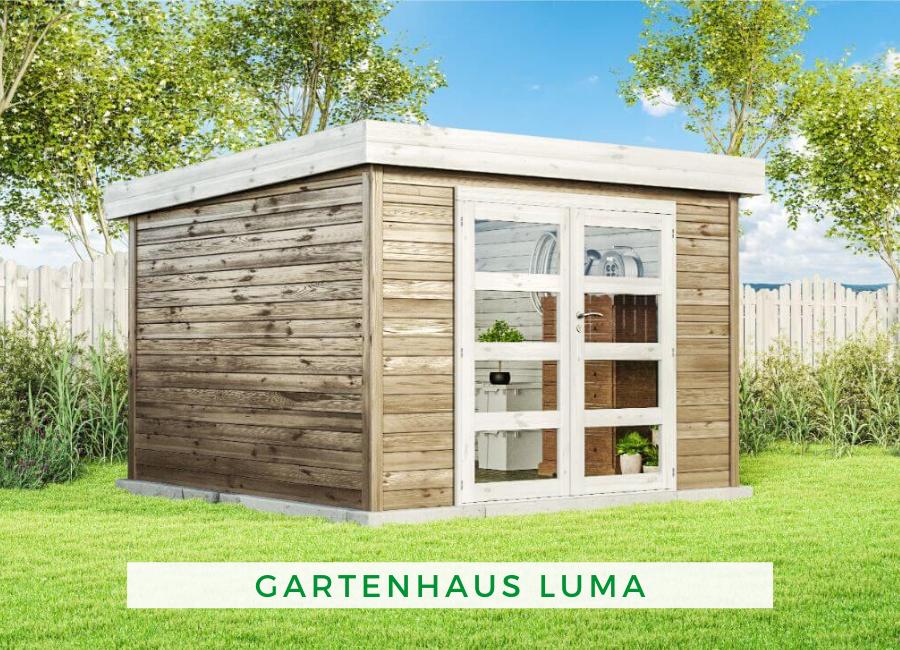 Gartenhaus Luma N1 28mm Gartenhaus Holz Flachdach Gartenhaus Pultdach Flachdach Gartenhaus