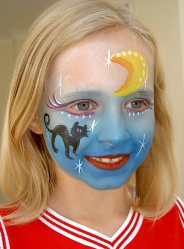 Image detail for -face_painting_design_halloween_cat