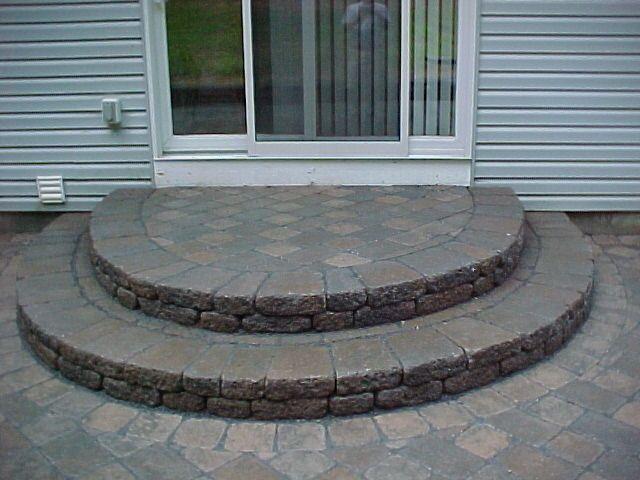Paver Stone Semi Circle Steps