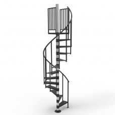 In Stock Primed Non Code 9Ft 2In 10Ft 3In High 3Ft 6In | 9 Ft Spiral Staircase | Lowes | Toronto V3 | Lowes Com | Wood Treads | Basement Stairs