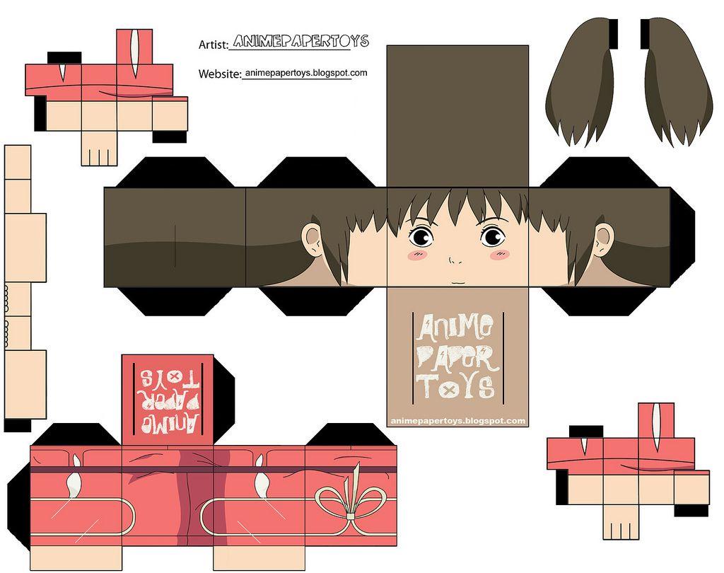 Chihiro Paper Toy Dessin Coloriage Pliage Papier Coloriage