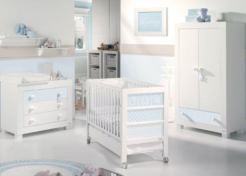 chambre bébé garçon - blanc et bleu Kids Pinterest Babies