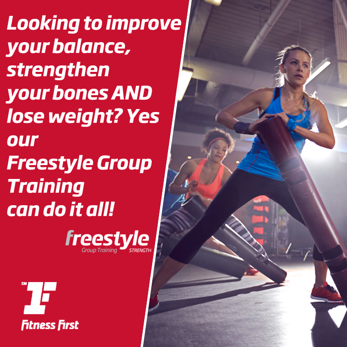 Looking to improve your balance, strengthen your bones AND lose weight? Yes our Freestyle Group Training can do it all!