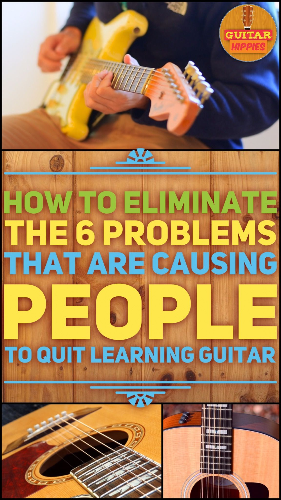 Why people quit guitar? And how to solve those problems? Inside.