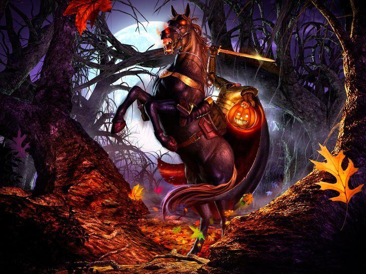 Headless Horseman Sleepy Hollow Headless Horseman Sleepy Hollow Halloween Artwork Horror Movie Art Headless Horseman