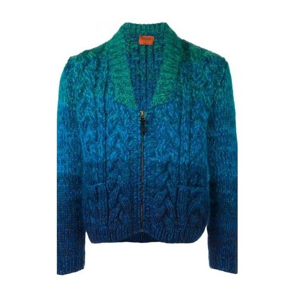 MISSONI Chunky Knit Zip Cardigan ($2,122) ❤ liked on Polyvore ...